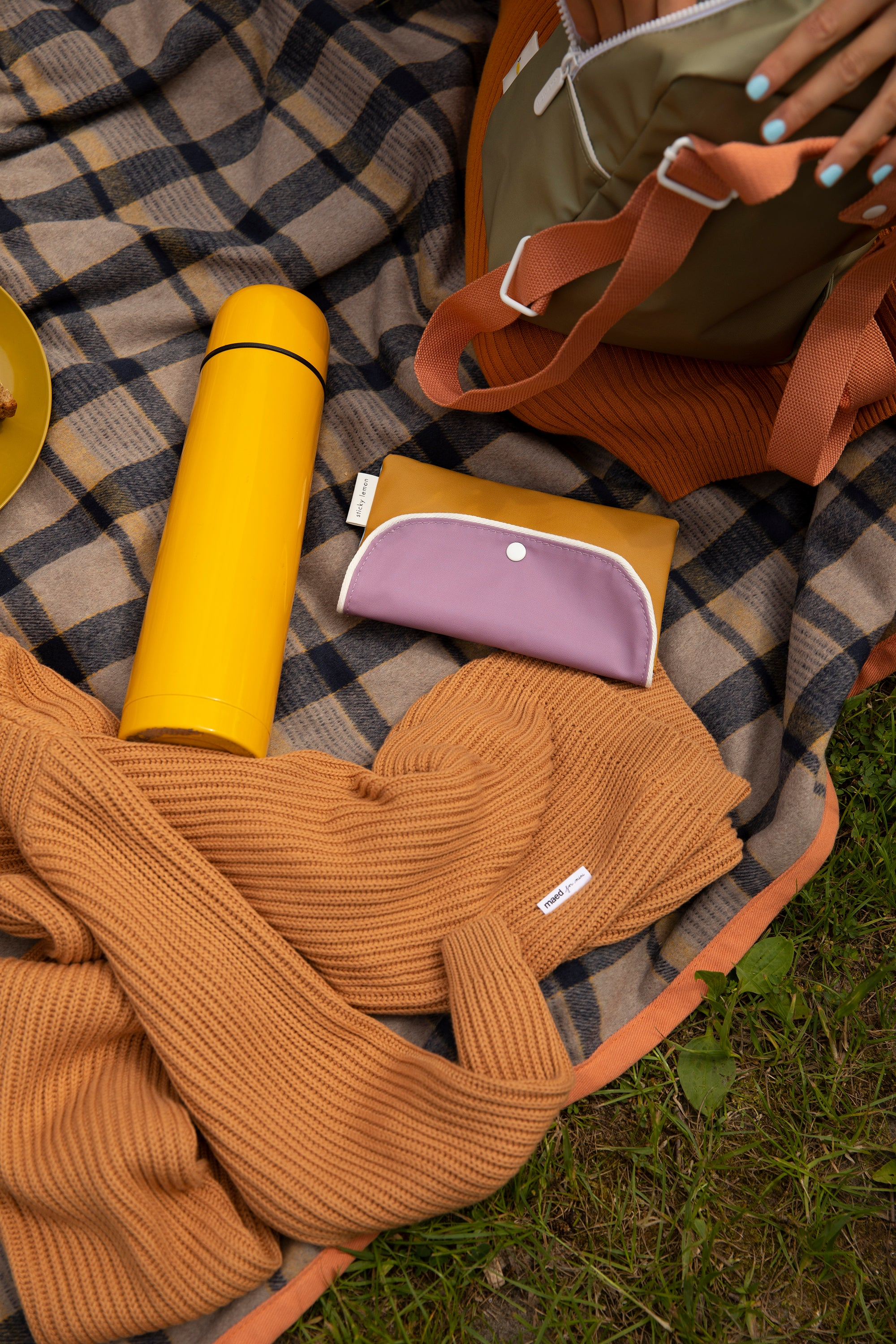 Pencil case wanderer caramel fudge+ pirate purple+ sky blue -Sticky Lemon