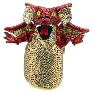 Dragon in egg, red   Handpuppet - Puppet Company