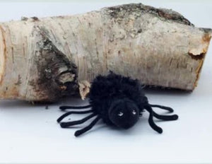 Spider furry - finger puppet - The puppet company
