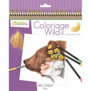 Colouring book Wild 4 - Avenue Mandarine