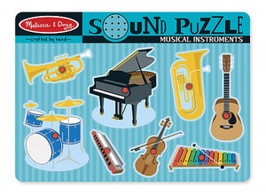 Sound puzzle, Musical instruments,- Melissa & Doug