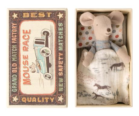 Little brother mouse in matchbox - Maileg