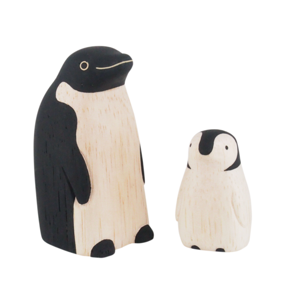 Pole pole wooden animal family Penguin  - T Lab