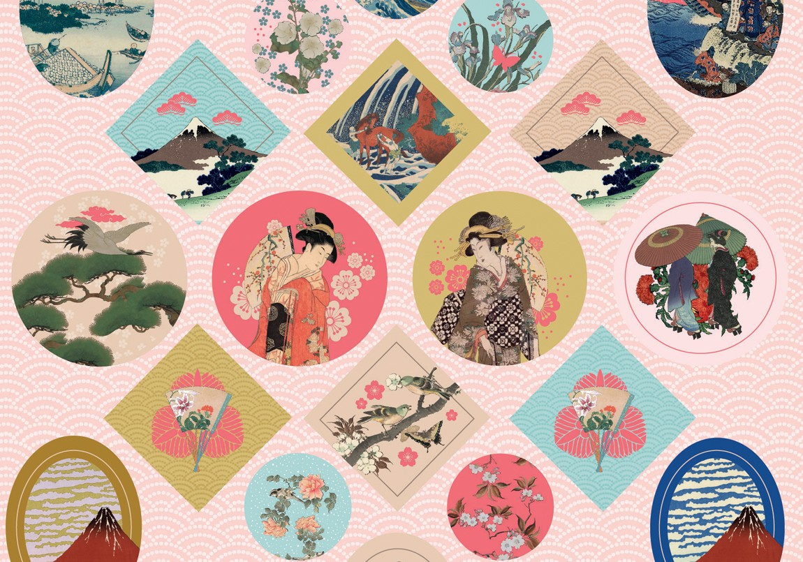 Stickers - Japanse prints, -Mon petit art