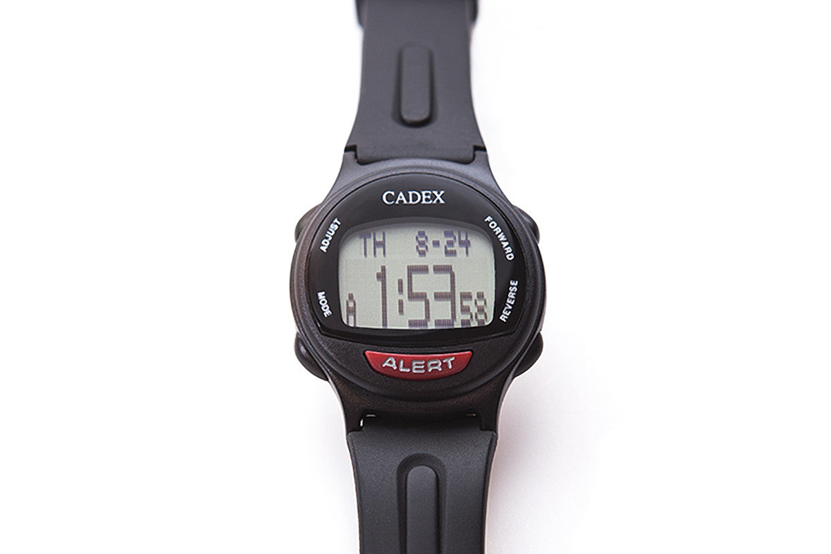CADEX Medical ID Bracelet and Alarm Watch Black Flat
