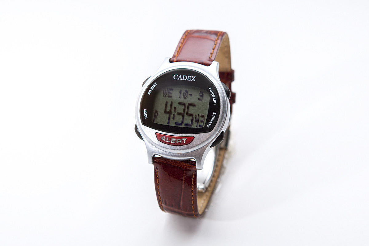CADEX Medical ID Bracelet and Alarm Watch Leather