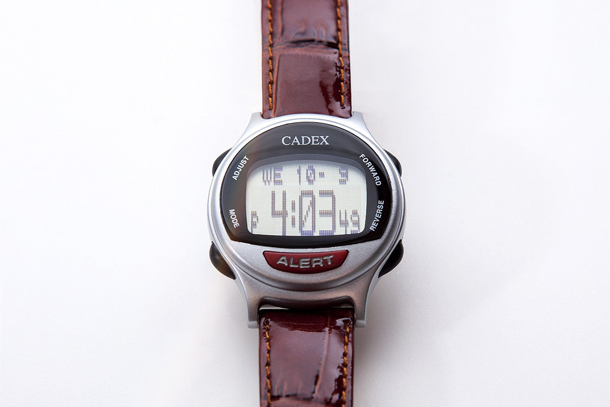 CADEX Medical ID Bracelet and Alarm Watch Leather Flat