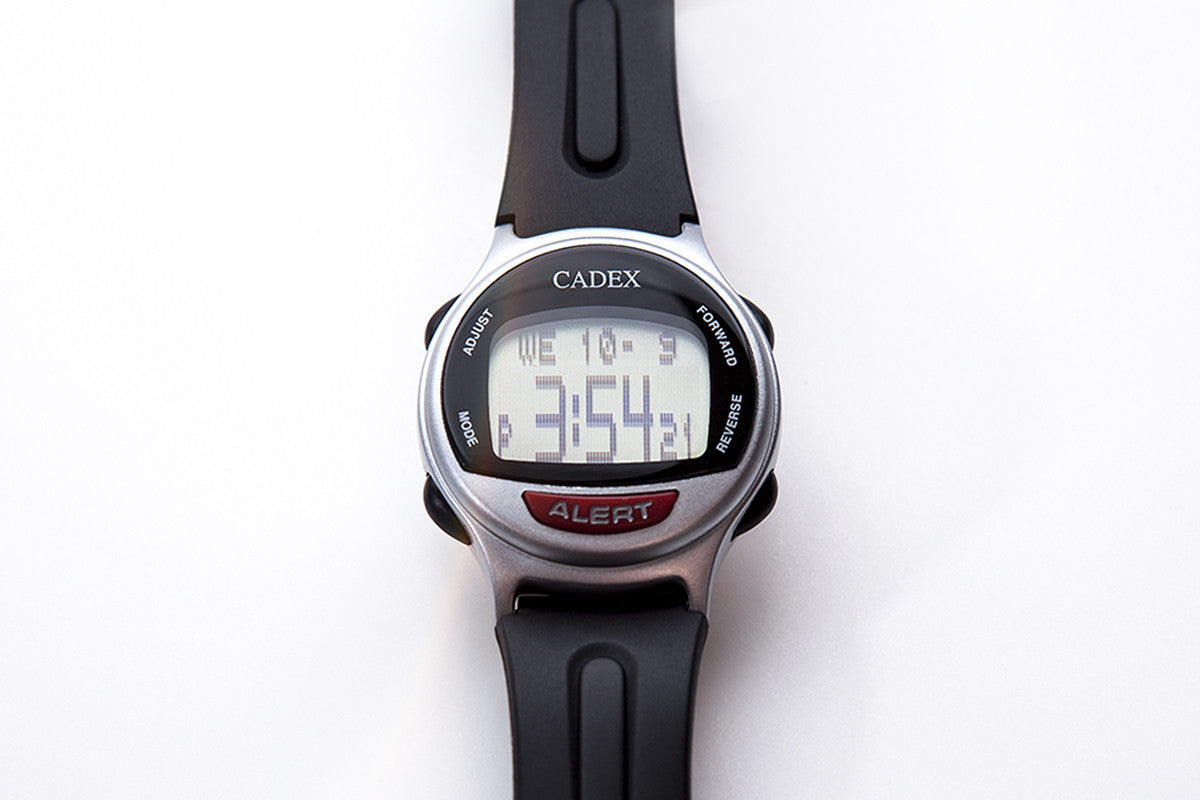CADEX Medical ID Bracelet and Alarm Watch Silver Flat