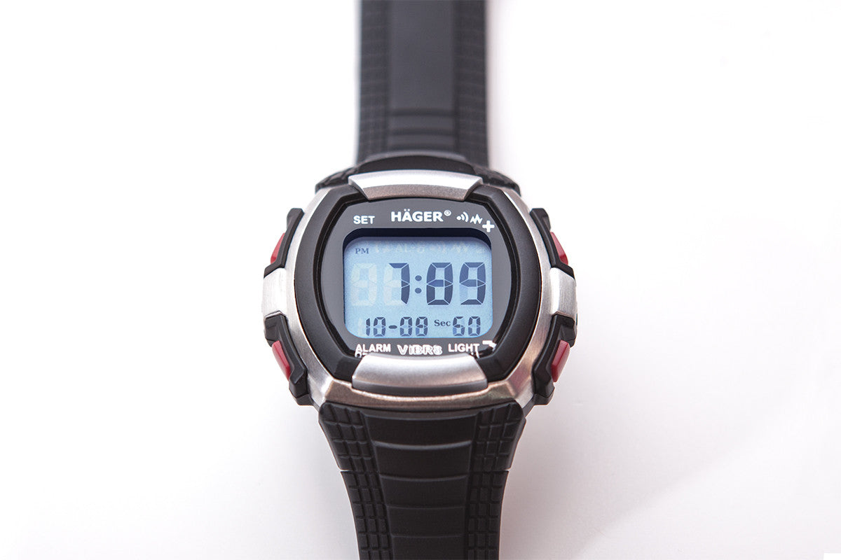HAGER 8 Vibrating Alarm Watch Flat