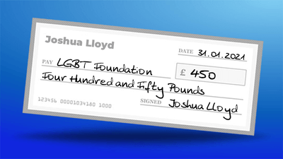 You Helped Us Raise £450 For LGBT Foundation!