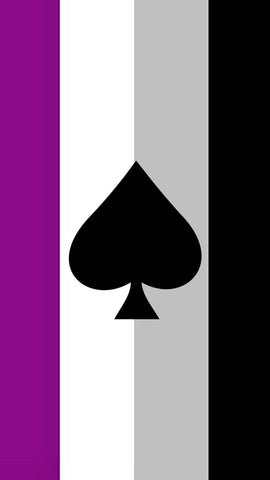 ace of spades asexual mobile wallpaper background