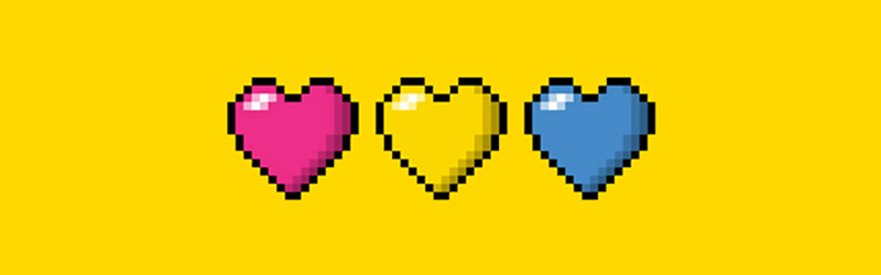 Pansexual Pride Hearts
