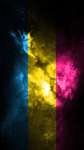 space pansexual mobile wallpaper background