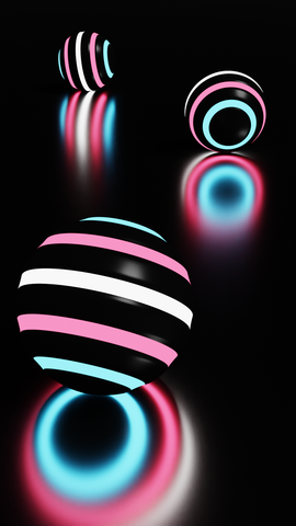neon balls trans mobile wallpaper background