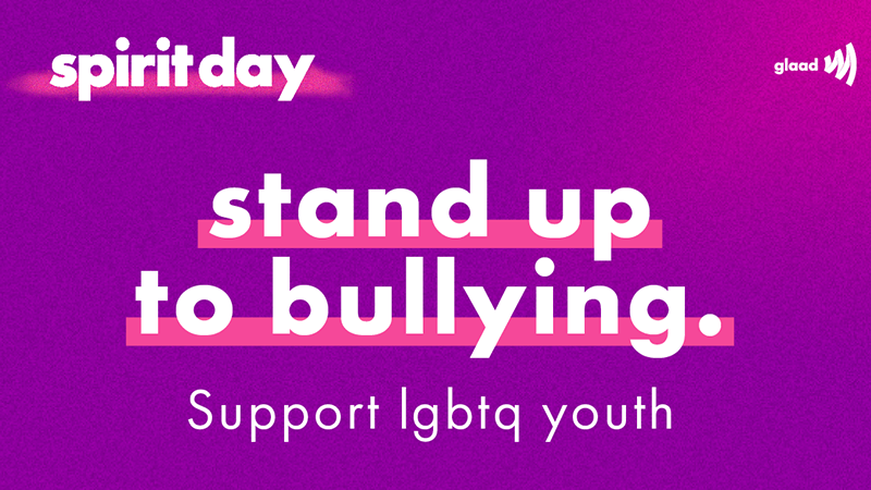 Spirit Day. Stand Up To Bullying. LGBTQ Youth