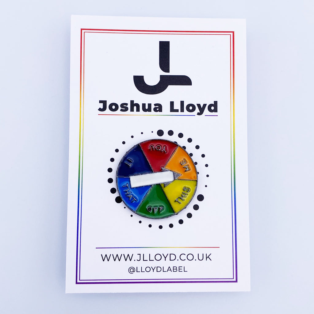 LGBT Gay Pride Pin Badge | Spin Dial