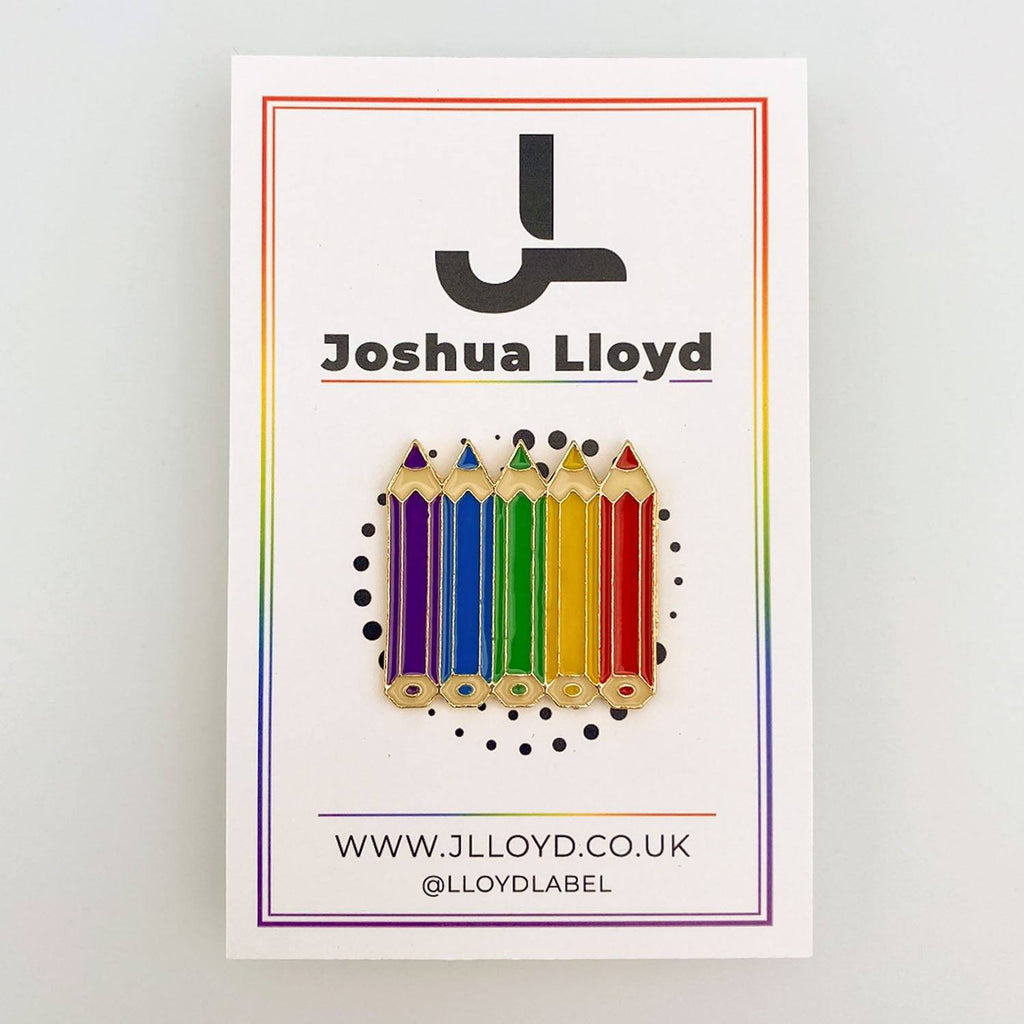 LGBT Gay Pride Pin Badge | Crayons - Joshua Lloyd