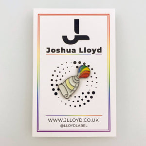 LGBT Gay Pride Pin Badge | Paint Tube - Joshua Lloyd
