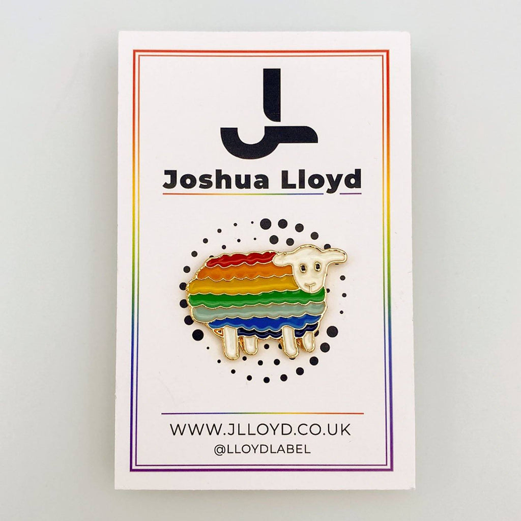 LGBT Gay Pride Pin Badge | Sheep - Joshua Lloyd