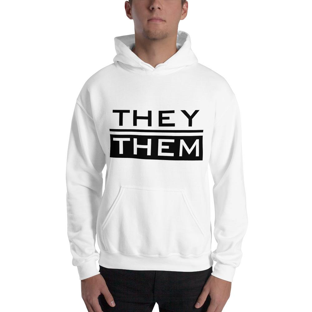 They/Them Pronoun Hoodie | Gender Neutral Fashion | Black - Joshua Lloyd