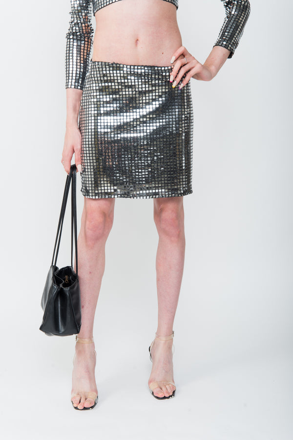 POLICE SILVER SKIRT