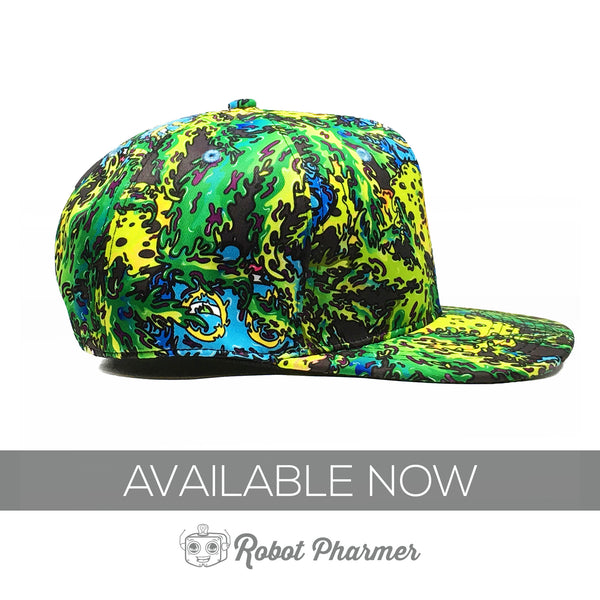 Robot Pharmer Wax and Leaf Pattern Design Snapback