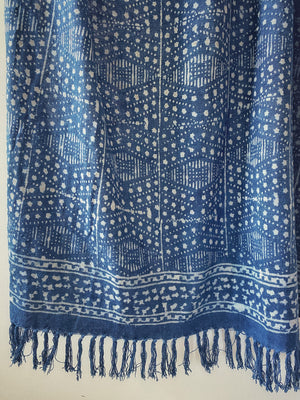 Starry Night Indigo Throw