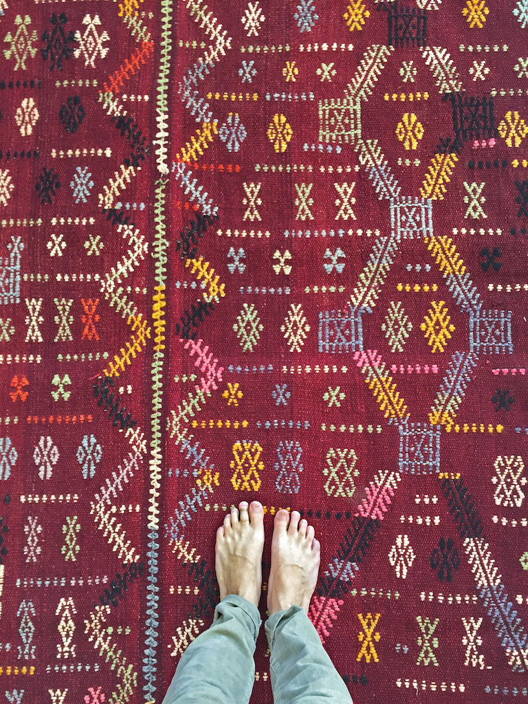Tribal Red Kilim
