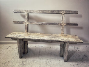 White-Washed Bench
