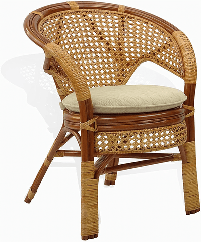 cane and rattan chair