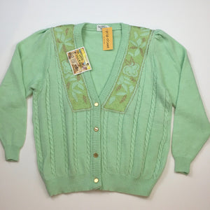 Vintage cardigan with gold buttons