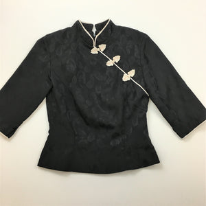 Vintage Asian Inspired silk top