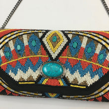 Load image into Gallery viewer, new beaded turquoise bag by Mary Frances