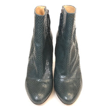Load image into Gallery viewer, Piton dark green short boots by Pollini