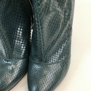 Piton dark green short boots by Pollini
