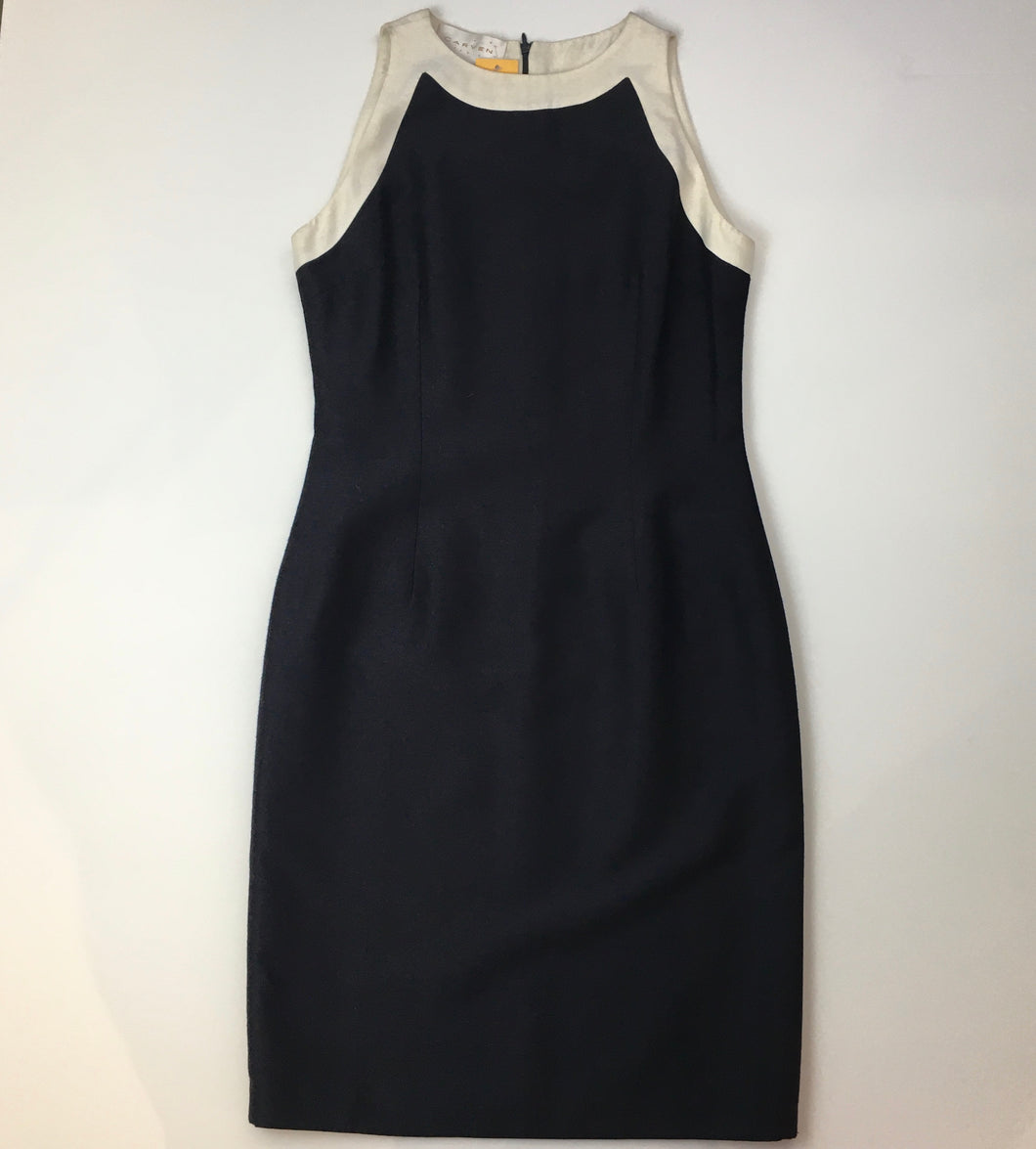 Carven silk two tone dress