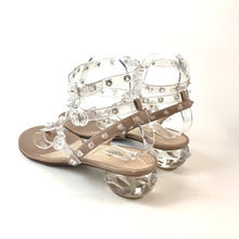 Load image into Gallery viewer, Valentino clear spike , lucite heel sandals