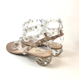 Valentino clear spike , lucite heel sandals