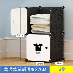 NEW Simple wardrobe DIY PP portable storage box multi-layer clothes storage box sorting clothes box storage cabinet