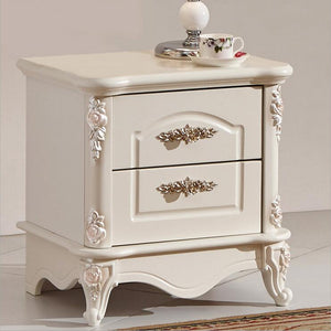 high quality bed fashion Modern European French Carved bed nightstands pfy10038