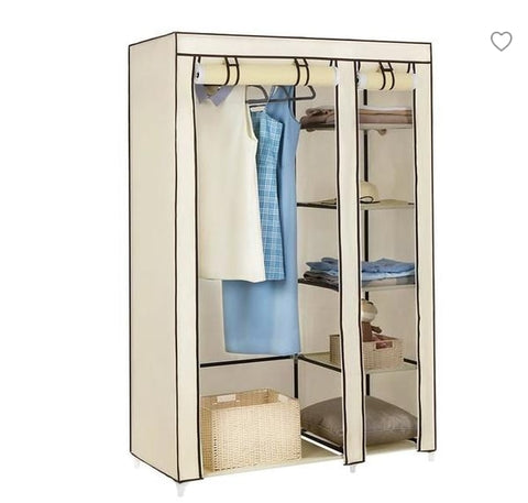 Cloth Wardrobe Furniture Storage Cabinet Fabric Closet Folding Non Woven Portable Waterproof Reinforcement Dustproof Bedroom New