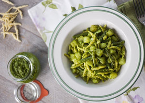 Strozzapreti with green bean pesto & potato