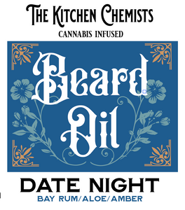 Date Night Beard Oil - Bay Rum, Aloe, Amber