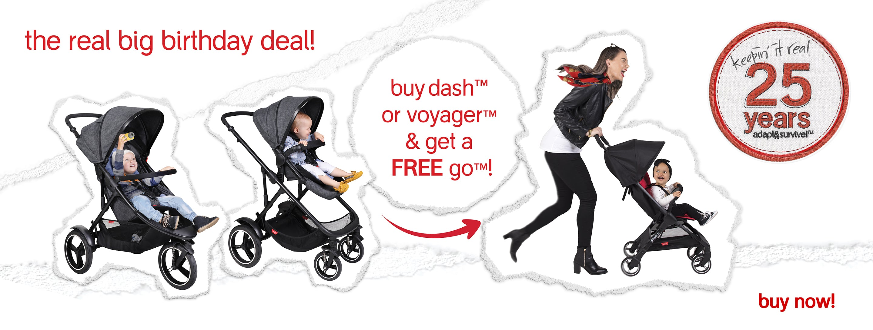 buy a dash or voyager inline buggy & get a free go buggy