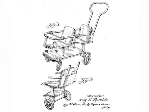 baby boomer double stroller history