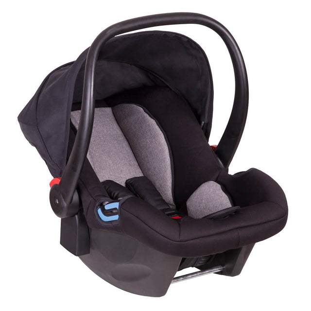 phil&teds alpha car seat 3/4 view_black/grey marl