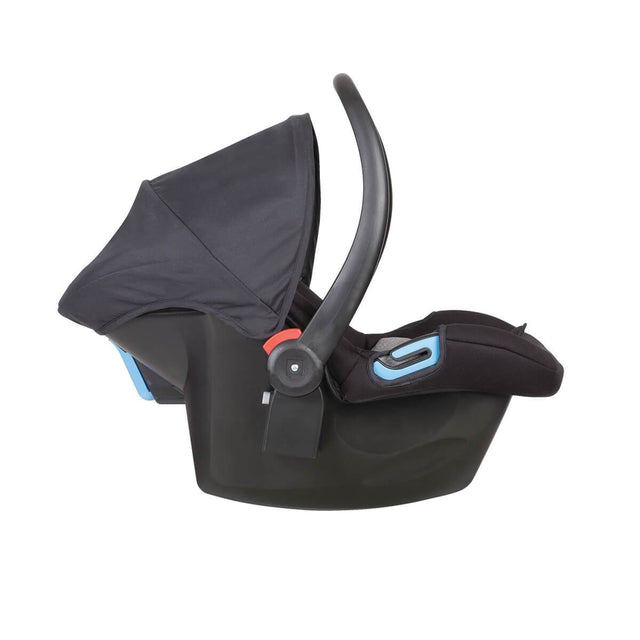 phil&teds alpha car seat side view_black/grey marl