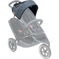 phil&teds sport sunhood in charcoal on sport buggy ghosted 3qtr view_charcoal