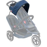 phil&teds sport sunhood in navy on sport buggy ghosted 3qtr view_navy