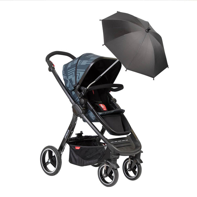 phil&teds shade stick umbrella attached to mod buggy_black